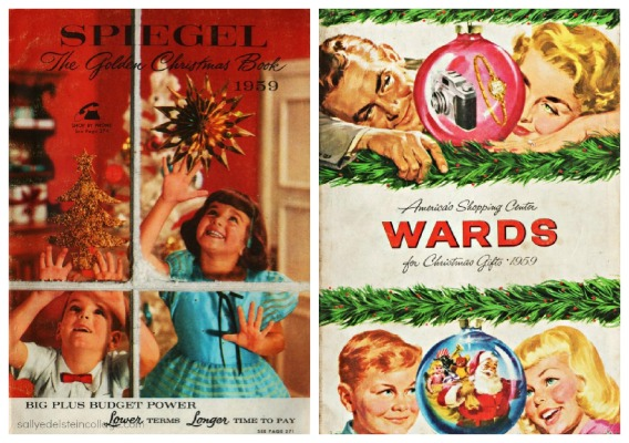 vintage Xmas catalogues covers
