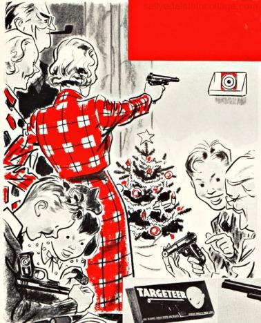 Xmas ad Daisy Gun targeteer 1930s