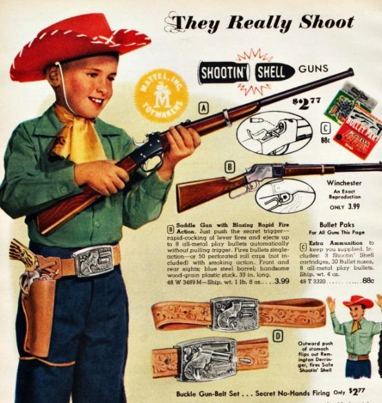 vintage picture boy as cowboy