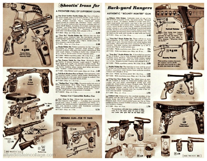 vintage pictures toy guns 1950s