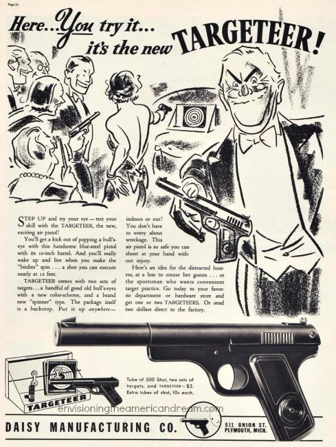 Guns Targeteer Daisy Ad 1930s