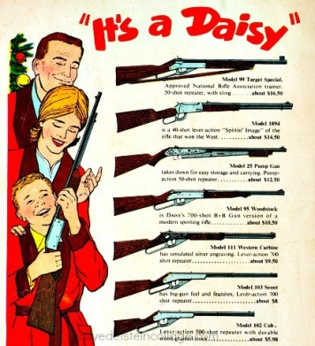 guns xmas daisy rifle ad