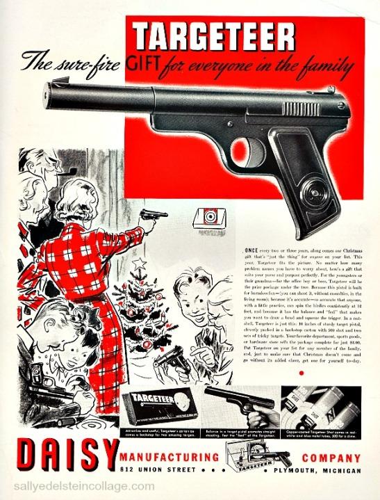 guns xmas daisy ad 1930s