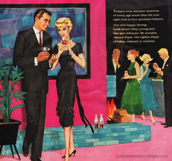 vintage ad pepsi party adults illustration