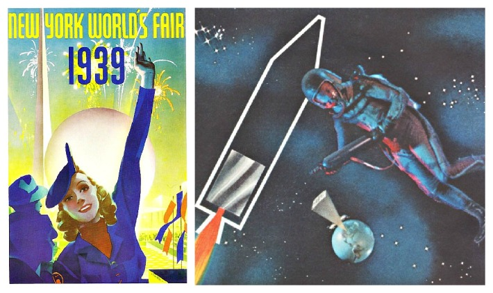 1939 NY worlds fair booklet picture  man in space