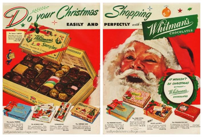 xmas candy ad Santa