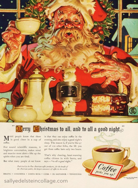 Xmas coffee ad Santa