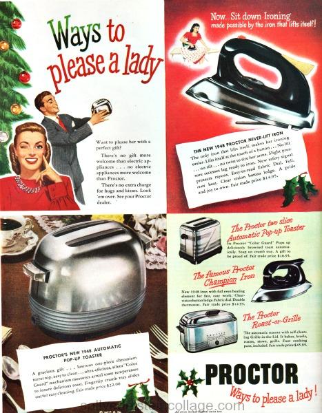vintage ad xmas kitchen proctor