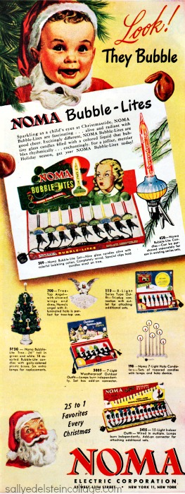 vintage ad bubble lights xmas lights