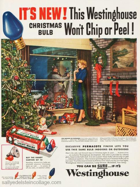 Ad xmas lights 1950s