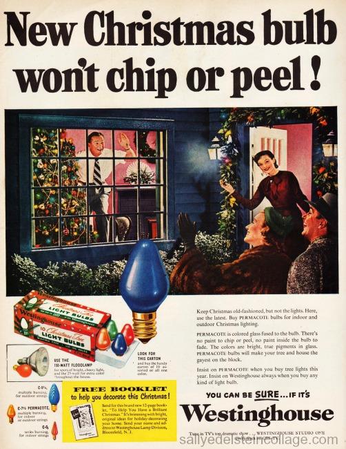 xmas lights ad 1950s