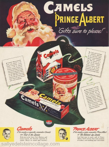 xmas smoking ad Santa 1940s