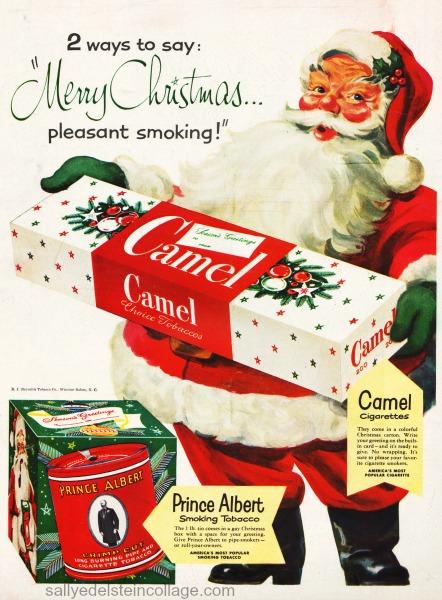 xmas smoking camelsad Santa