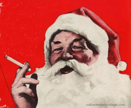 xmas ad Santa smoking