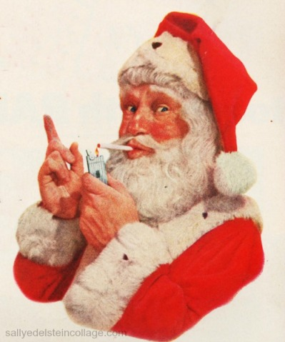 xmas smoking santa ad