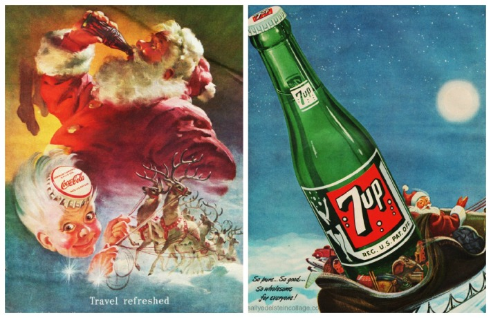 xmas soda ads with Santa