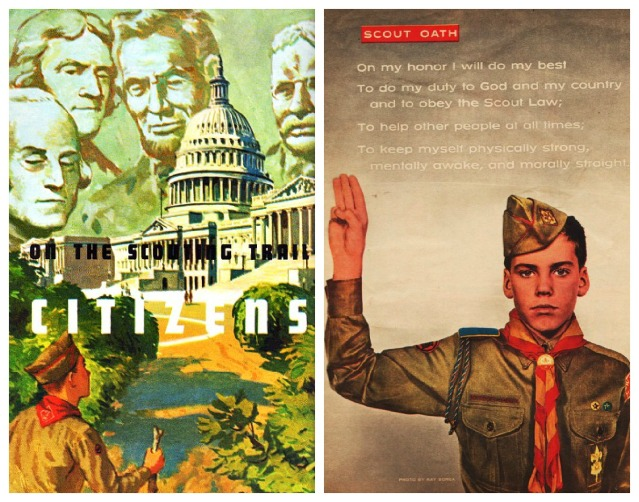 illustration photo Boy Scout Citizen Oath 1960