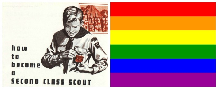 illustration boy scout gays second class gay flag