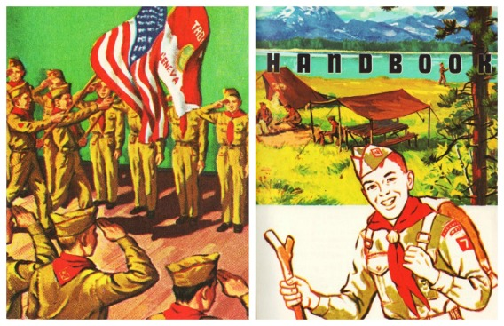 Vintage Illustration Boy Scout Handbook 1962