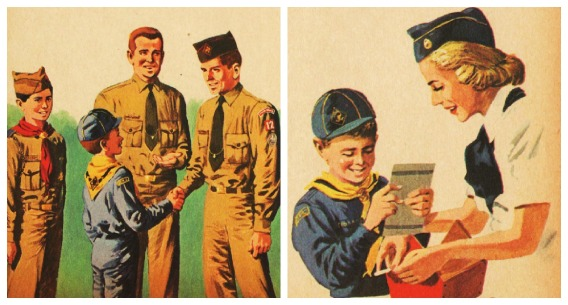 Vintage Illustrations Little Golden Book Cub Scouts 1959