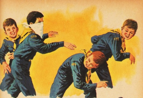 Vintage Illustration  Cub Scouts 1959