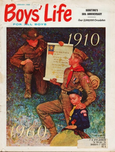 Boy scouts Norman Rockell illustration 50th anniversary