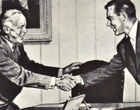 ad businessmen picture 1950s