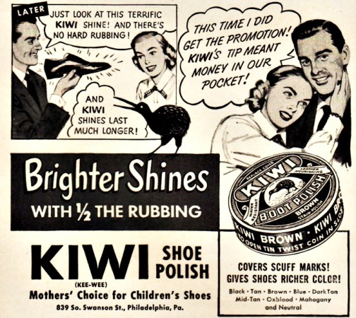 Vintage Ad Kiwi Shoe Polish 1951