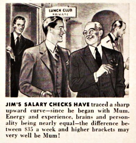 Vintage Ad Mum 1941 illustration