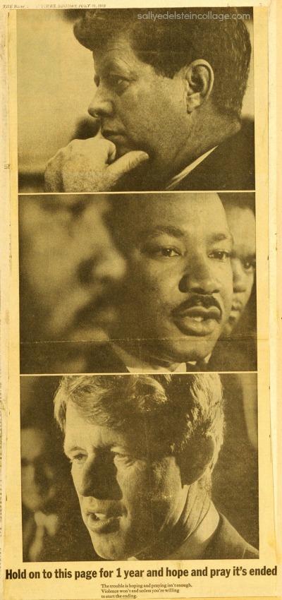 Vintage Gun Control ad photos JFK, RFK,MLK