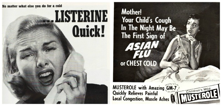 vintage advertising health asiatic flu 1950s