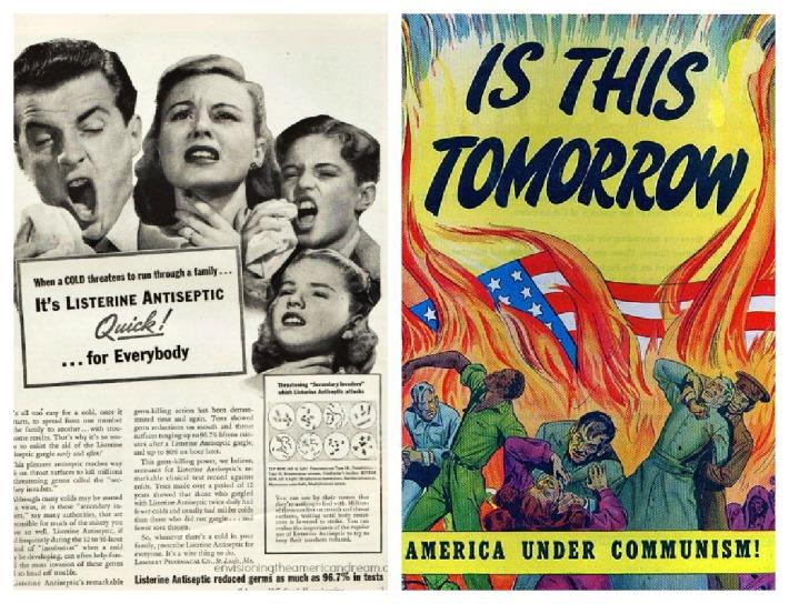 Vintage ad Listerine, Cold war propaganda