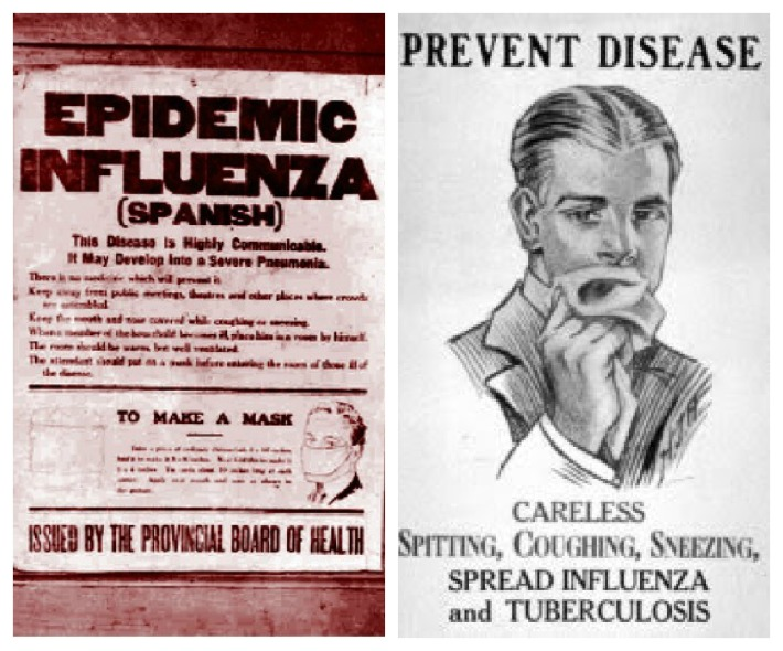 Vintage posters Warning of the 1918 Flu Epidemic