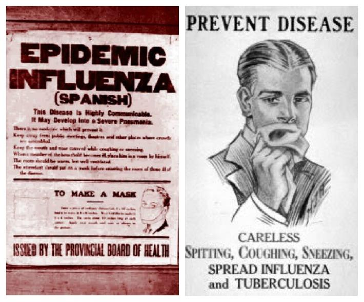 Vintage posters Warning of the 1918 Flu Epidemic