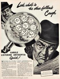 Vintage ad Listerine Colds 1940s