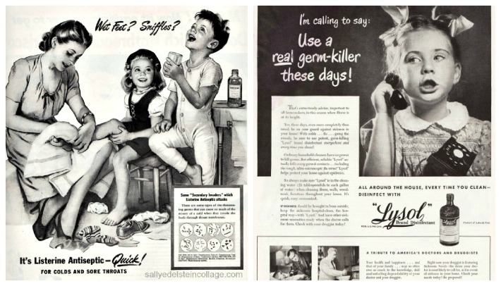 vintage ads health listerine lysol germs