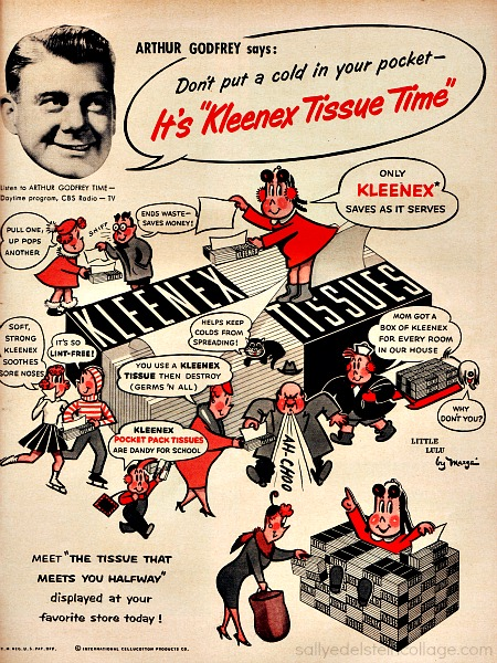 Kleenex tissue ad Little Lulu