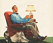 vintage illustration ad 46 man