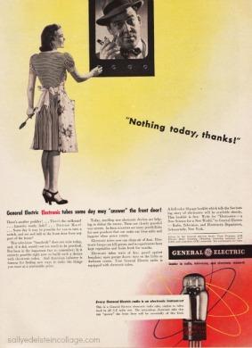 Vintage ad WWII GE Housewife electronics