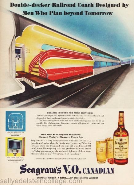 retro trains of the future 1945