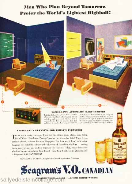 postwar promises seagrams ad art & advertising future technology