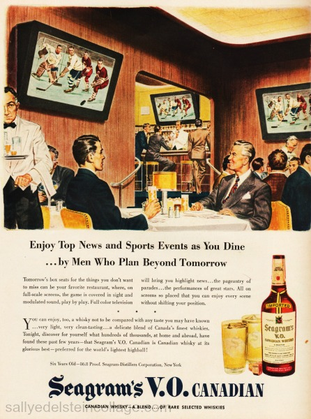 Vintage ad future technology TV 1946