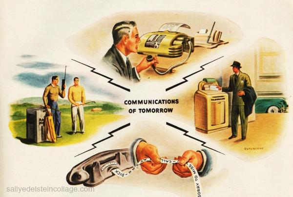 Vintage ad technology communications illustration 1946