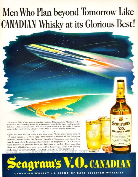 vintage ad men who plan beyond tomorrow rockets 1940s illustration