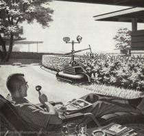 vintage tech suburbs 1950s