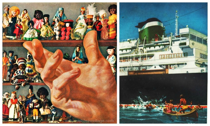 travel cruise ships ad souveniere dolls