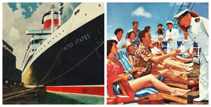 vintage ad cruise ships travel 1950s