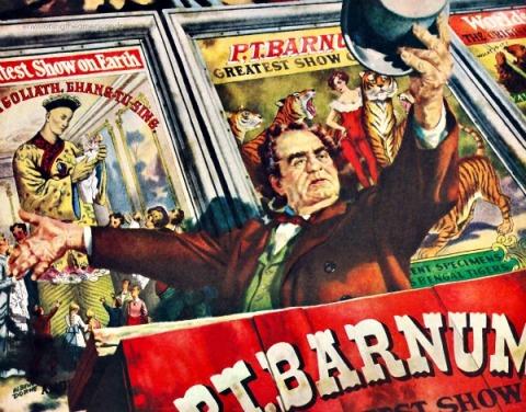 illustration  PT Barnum vintage ad