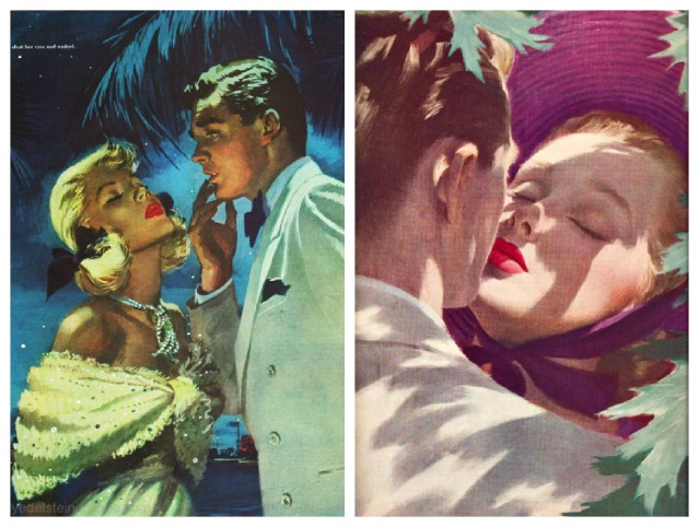 vintage illustration Romance  jon whitcomb