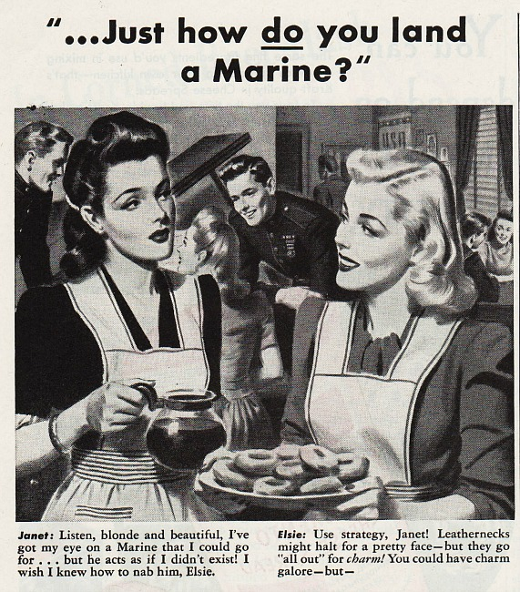 vintage illustration women WWII  44 Mum ad